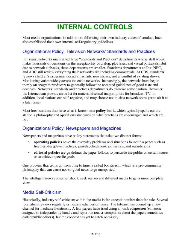 C17 - Ethics & Other Informal Controls