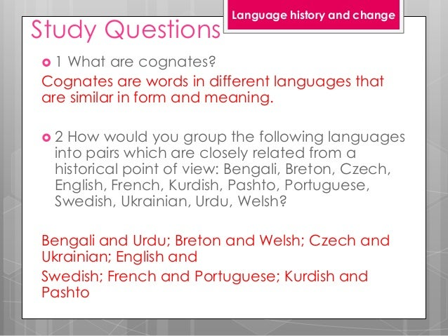 Chapter 17 language history and change