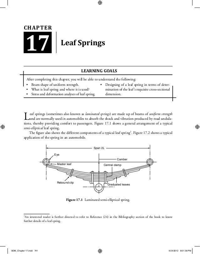 LEAF SPRING DESIGN CALCULATION EPUB