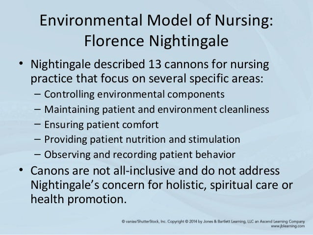 nursing hygiene and environmental theory nightingale Florence nightingale who raised nursing as a highly profession abstract reference  and improved hygiene conditions and.