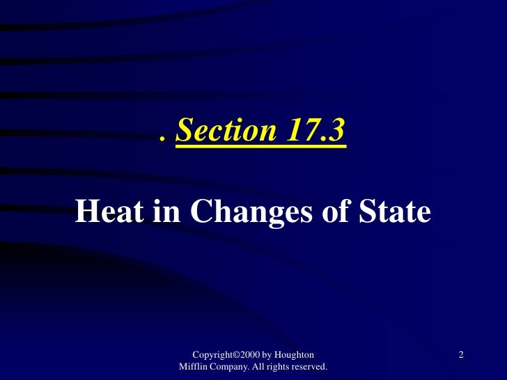 Chapter 17 thermochemistry sections 17.3 & 17.4
