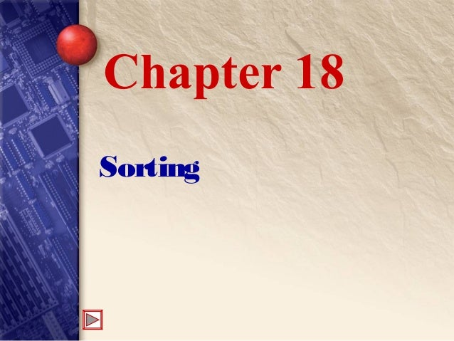 Sorting Chapter 18