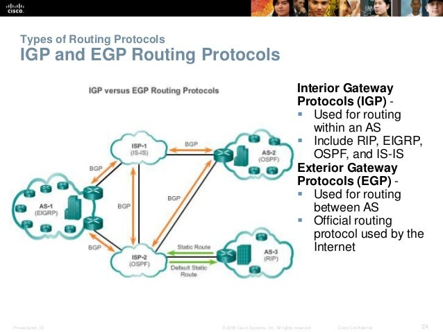Cisco Confidential Types Of Routing Protocols Classifying Routing Protocols;  24.