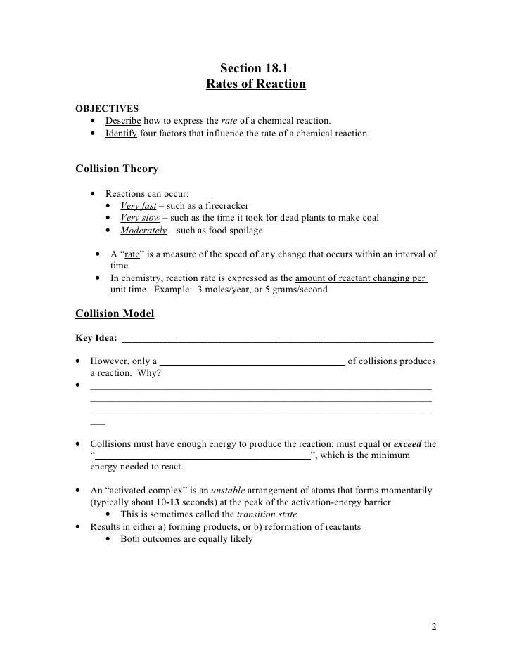 Printable Worksheets chemical reaction worksheets : Rate Of Reaction Worksheet Free Worksheets Library | Download and ...