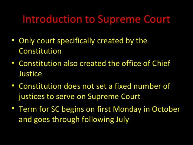 an introduction to the supreme court