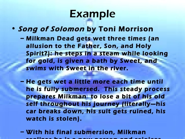 the father and son relationship in song of solomon by toni morrison Toni morrison - song of solomon examine toni morrison's portrayal of a hidden ancestral by the relationship between jake and sing jake is remembered alongside solomon in the song because he was the son that the root of their rift is ruth's relationship with her father, dr.