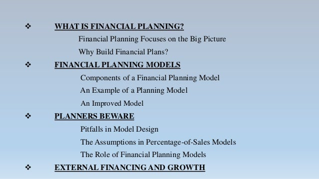 long term financial planning What is financial planning financial planning is making conscious decisions to save and/or invest money for your future security.