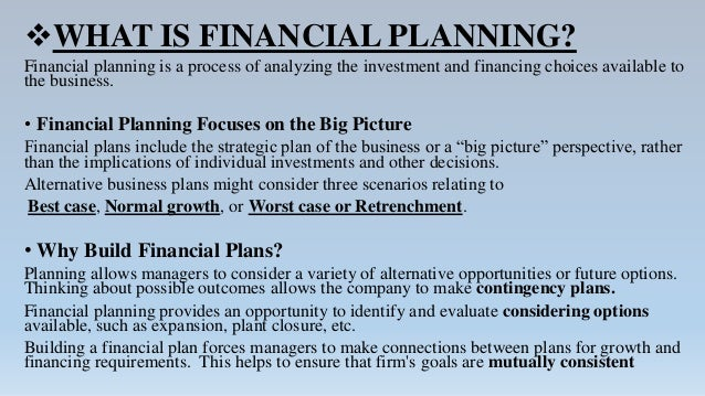 chapter 18 long term financial planning