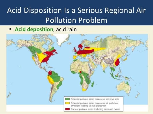 Bio  Chapter - Acid deposition map of us