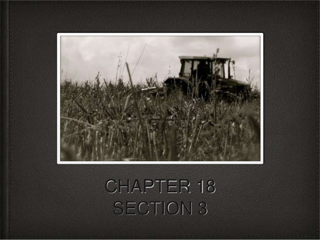 CHAPTER 18 SECTION 3