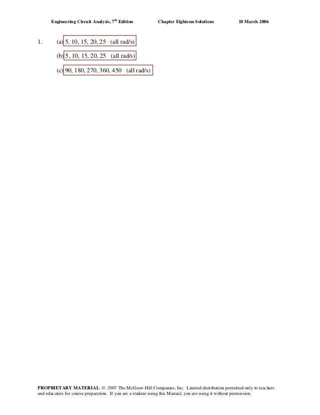 Engineering circuit analysis 7th edition solution manual pdf
