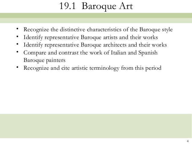 Chapter19 italy and spain 1600 1700 baroque for What are the characteristics of baroque period