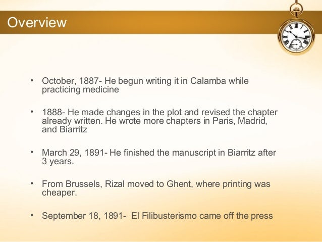 el filibusterismo summary essay El filibusterismo: summary and analysis of because don custodio was believed to be an expert when it comes to writing papers el fili chapter 39 (final) el.