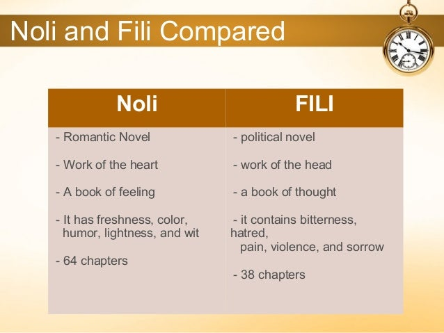 noli and fili The difference of noli from fili is that noli me tangere tackles about the social problem of a typical during that time adn in order to solve such.