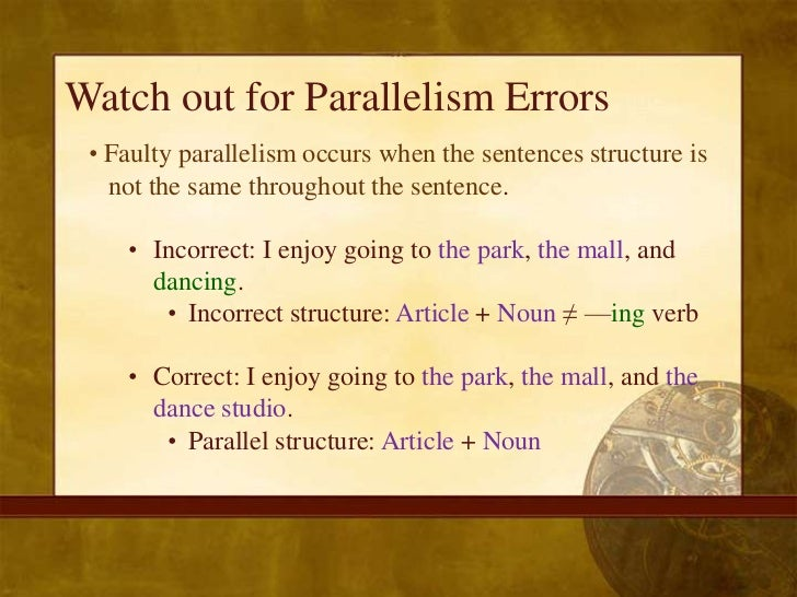 Faulty Parallelism Exercises With Answers