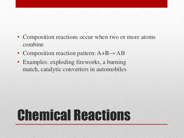 chemical reactions in fireworks