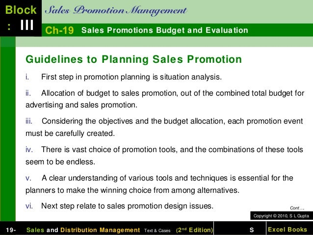 194e371f8f67 Chapter 19 sales promotions budget and evaluation sales and distribut…