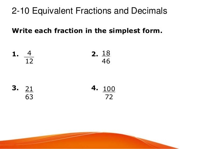 simplest form 4/10  Chapter 11 & 11 warm ups