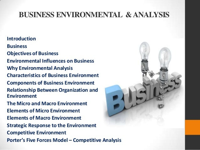 an analysis of business environment The business environment can include factors such as: business dictionary using swot analysis to develop a marketing.