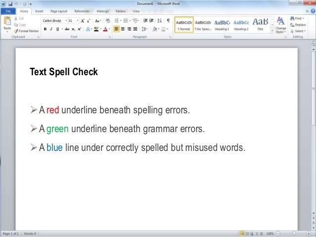 microsoft word blue line