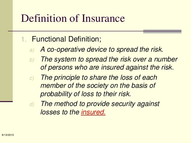 What is the definition of risk in insurance — photo 1