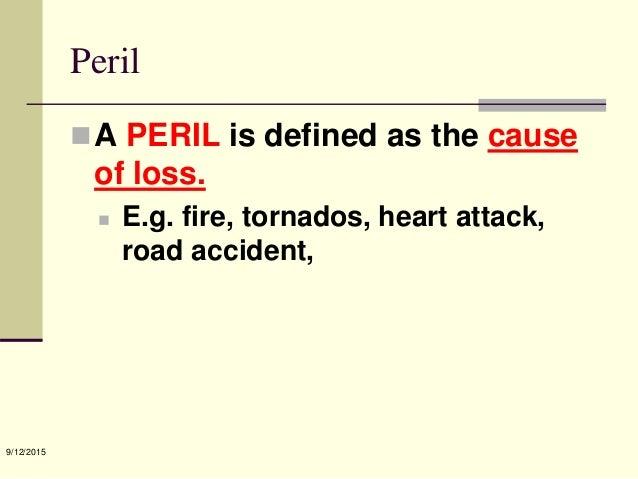 Peril Car Insurance Definition