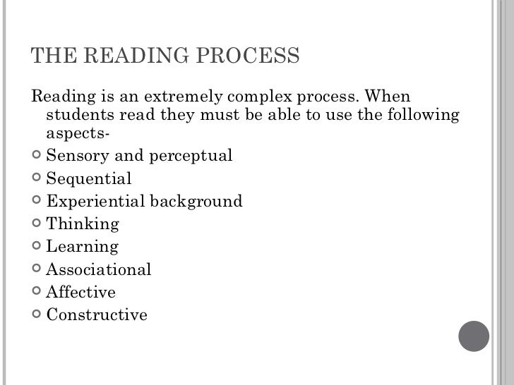 why is reading a complex process