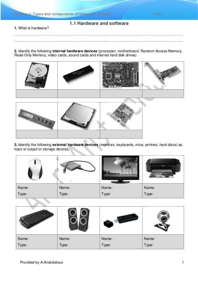 0417 IGCSE ICT Chapter 1 Exercises