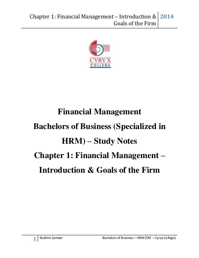 FINANCIAL MANAGEMENT GOALS EBOOK