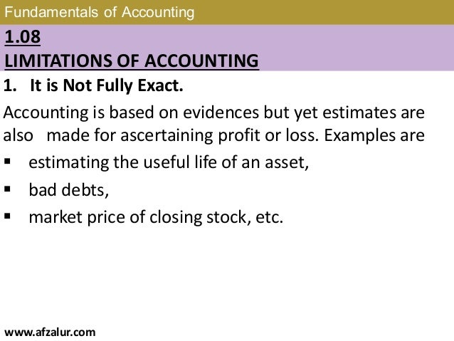 Chapter 1: Fundamentals of Accounting