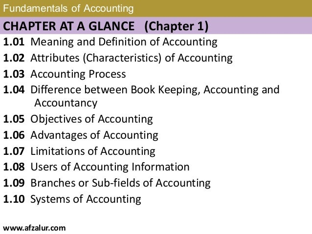 Chapter 1: Fundamentals of Accounting Slide 2