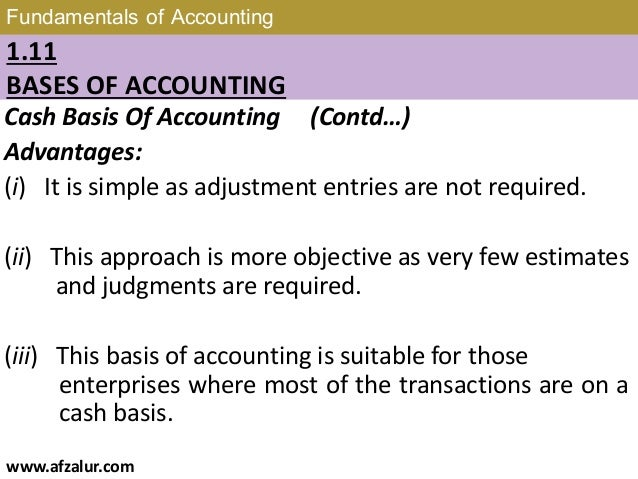 cash basis accounting example