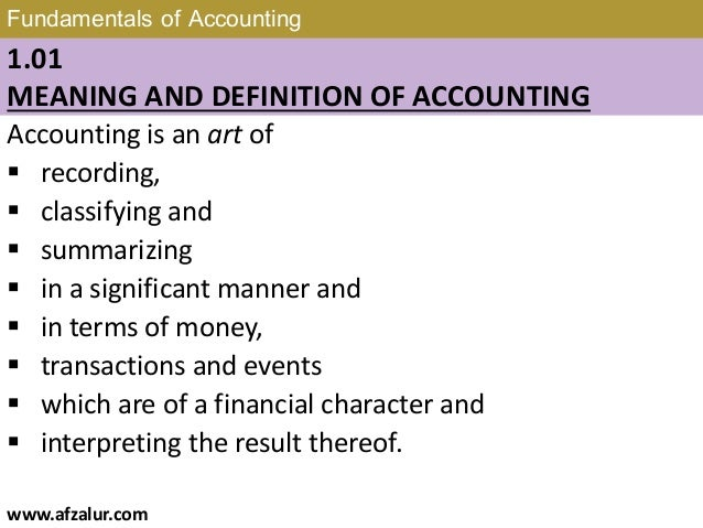 fundamentals of accounting course outline