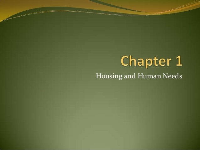 Housing and Human Needs