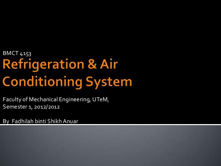 BMCT 4153Faculty of Mechanical Engineering, UTeM,Semester 1, 2012/2012By Fadhilah binti Shikh Anuar