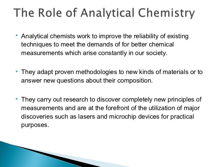 Chapter 1 introduction to analytical chemistry