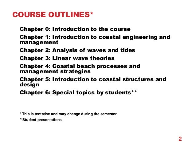 Chapter 1 introduction to coastal engineering and