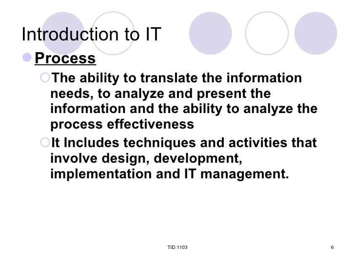 TID Chapter 1 Introduction To Information Technology