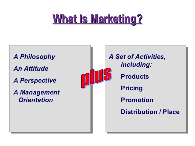 Chapter 1 introduction to marketing present