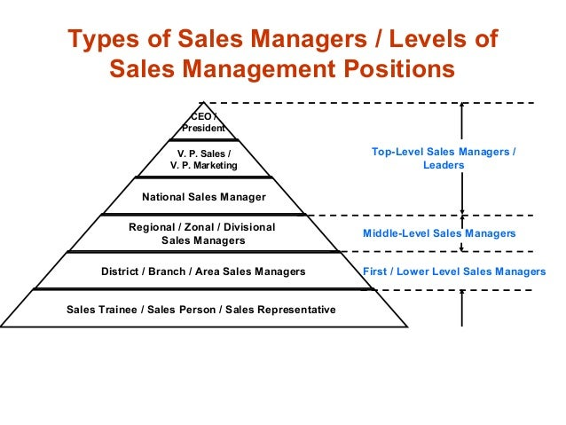 ... 16. Types Of Sales Managers ...