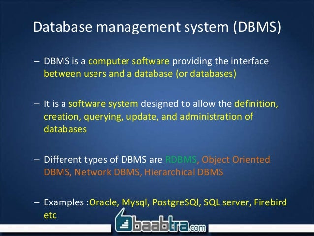 relational database management system - relational database management system mysql is a relational database management system (rdbms) which has more than 11 million installations, and is owned by oracle mysql is a fast, stable, robust, easy to use, and true multi-user, multi-threaded sql database server.