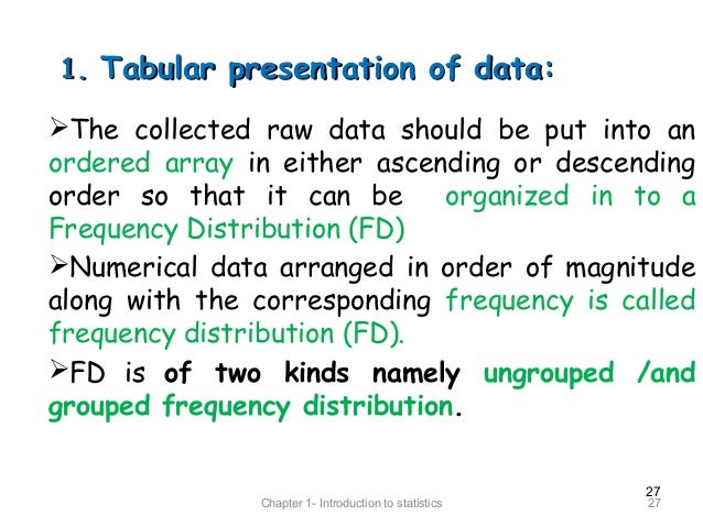 meaning of tabular