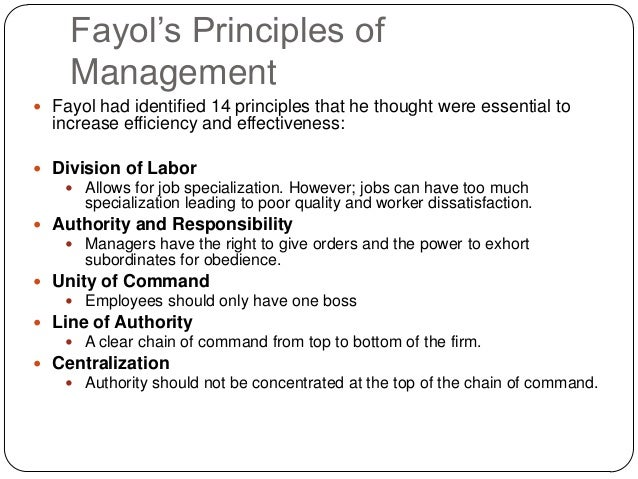 application of fayol s principle of management in mcdonalds Howfayol 's principles of management applied in mc donalds please it is urgent for my project work, so experts please reply soon to this i want the application of atleast 10-12 principles of.