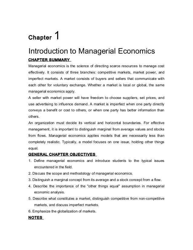 managerial economics chapter 5 Table of contents chapter 1 foundations of managerial economics chapter 2 demand chapter 3 household as a consumer: behind the demand curve.