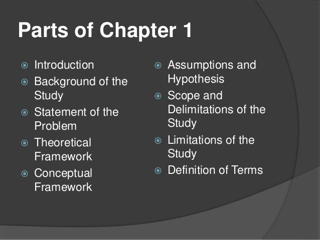 chapter 1 research paper statement of the problem definition