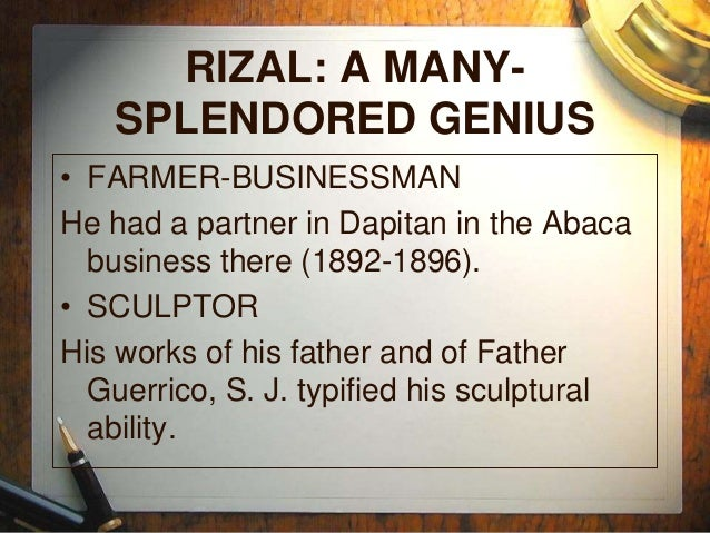 A review of the annotation of jose rizal in chapter 8 of