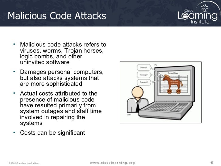 What can be learned from the viruses and malicious codes attacks