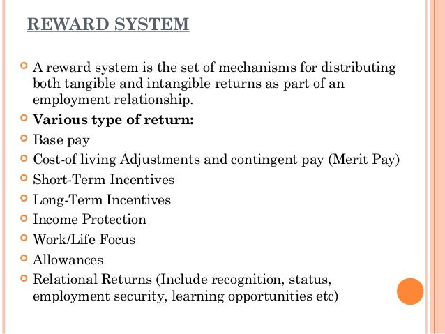 effective management of reward system as