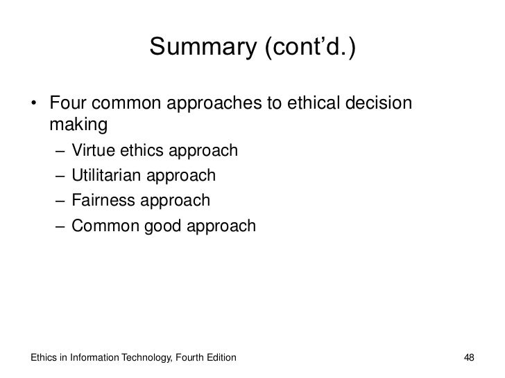 Four Approaches to Deciding Ethical Dilemmas