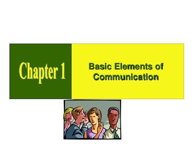 Basic Elements of Communication